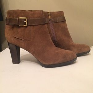 Franco Sarto womens brown ankle boots size 11